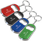 Bottle Opener Keychains With LED Light